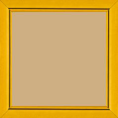 Cadre bois profil bombé largeur 2.4cm couleur jaune satiné flet noir - 15x20
