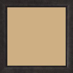 Cadre bois profil bombé largeur 2.4cm couleur noir anthracite satiné - 60x60