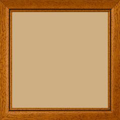 Cadre bois profil bombé largeur 2.4cm couleur marron ton bois satiné filet noir - 24x30