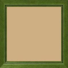 Cadre bois profil bombé largeur 2.4cm couleur vert sapin satiné filet noir - 15x20