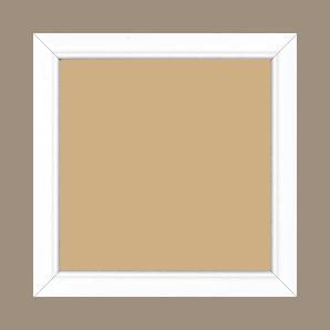 Cadre bois profil bombé largeur 2.4cm couleur blanc satiné - 42x59.4