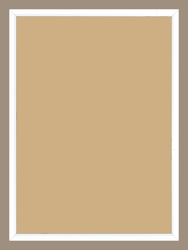 Cadre  bois blanc — 50 x 70