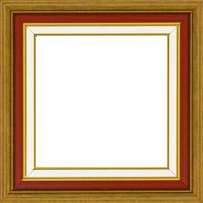 Cadre bois largeur 5.2cm or gorge bordeaux  marie louise crème filet or intégrée - 116x81