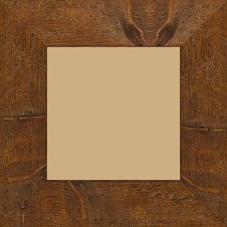 Cadre bois profil plat largeur 6.7cm couleur marron foncé finition aspect vieilli antique - 84.1x118.9