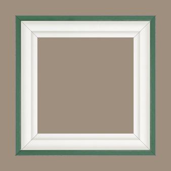 Caisse bois caisse américaine profil escalier largeur 4.4cm blanc mat filet vert (spécialement conçu pour les châssis d'une épaisseur jusqu'à 2.5cm ) - 15x20