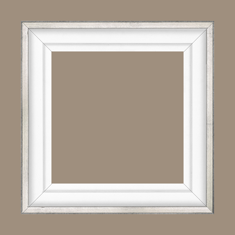 Caisse bois caisse américaine profil escalier largeur 4.4cm blanc mat filet argent (spécialement conçu pour les châssis d'une épaisseur jusqu'à 2.5cm ) - 15x20