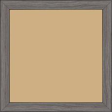 Cadre bois profil plat largeur 2cm décor bois gris - 15x20