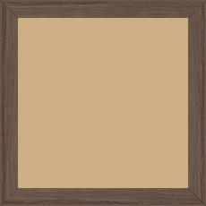 Cadre bois profil plat largeur 2cm décor bois noyer - 30x30