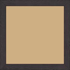 Cadre bois profil plat largeur 2cm décor bois wengé foncé - 30x30