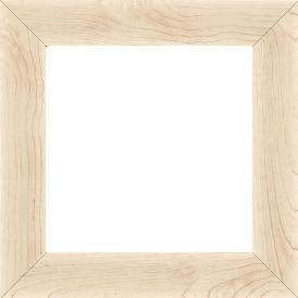 Cadre bois profil plat largeur 4.2cm décor bois blanc naturel - 61x46