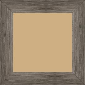Cadre bois profil plat largeur 4.2cm décor bois gris - 50x65