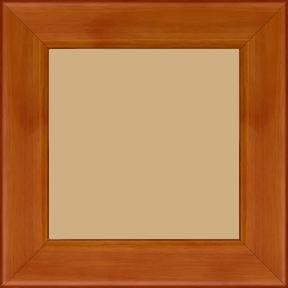 Cadre bois profil plat bord arrondi largeur 4.9cm de couleur mandarine - 60x80