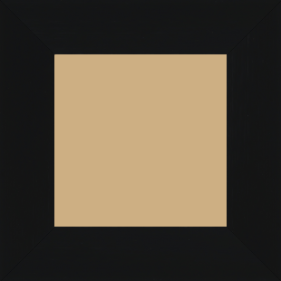 Cadre bois profil plat largeur 6cm couleur noir mat finition pore bouché haut de gamme - 70x90