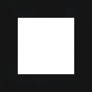 Cadre bois profil plat largeur 6cm couleur noir mat finition pore bouché haut de gamme - 50x50