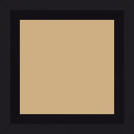 Cadre bois profil plat nez cassé largeur 4cm couleur noir mat finition pore bouché (le sujet qui sera glissé dans le cadre sera en retrait de la face du cadre de 2.2cm assurant un effet très contemporain) - 59.4x84.1