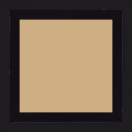 Cadre bois profil plat nez cassé largeur 4cm couleur noir mat finition pore bouché (le sujet qui sera glissé dans le cadre sera en retrait de la face du cadre de 2.2cm assurant un effet très contemporain)