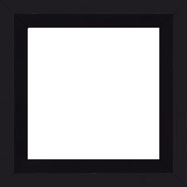Cadre bois profil plat nez cassé largeur 4cm couleur noir mat finition pore bouché (le sujet qui sera glissé dans le cadre sera en retrait de la face du cadre de 2.2cm assurant un effet très contemporain) - 50x50