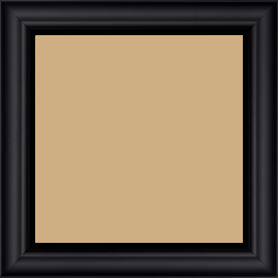 Cadre bois profil inversé largeur 3.2cm couleur noir mat finition pore bouché - 30x45