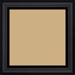 Cadre bois profil inversé largeur 3.2cm couleur noir mat finition pore bouché