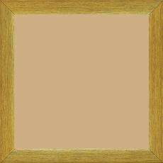 Cadre bois profil plat effet cube largeur 2cm or contemporain satiné haut de gamme - 15x20
