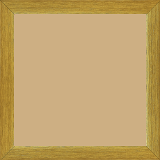 Cadre bois profil plat effet cube largeur 2cm or contemporain satiné haut de gamme