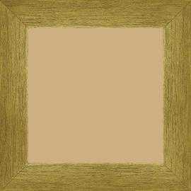 Cadre bois profil plat largeur 4cm or contemporain satiné haut de gamme - 18x24