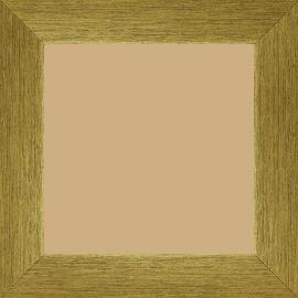 Cadre bois profil plat largeur 4cm or contemporain satiné haut de gamme