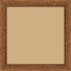Cadre bois profil plat largeur 2.5cm couleur marron ton bois - 60x60