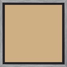 Cadre bois profil plat largeur 1.6cm couleur argent contemporain filet noir en retrait de la face du cadre de 6mm assurant un effet très original - 21x29.7