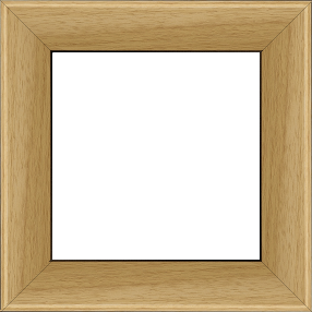 Cadre bois profil en pente méplat largeur 4.8cm ayous massif naturel (sans vernis, peut être peint...) - 61x46