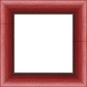 Cadre bois profil arrondi largeur 4.7cm couleur rouge cerise satiné rehaussé d'un filet noir - 61x46
