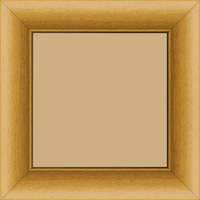 Cadre bois profil arrondi largeur 4.7cm couleur jaune tournesol satiné rehaussé d'un filet noir - 80x100