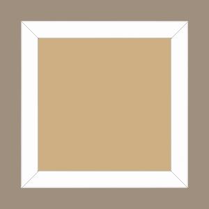 Cadre bois profil plat largeur 2.5cm hauteur 4.8cm couleur blanc mat finition pore bouché (hauteur feuillure 4.3cm ) - 84.1x118.9