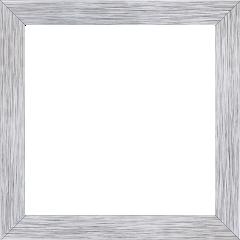 Cadre bois profil plat largeur 2.5cm hauteur 4.8cm argent contemporain (hauteur feuillure 4.3cm ) - 61x46