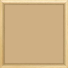 Cadre bois profil demi rond largeur 1.5cm couleur naturel satiné - 15x20