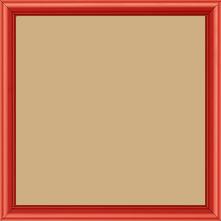 Cadre bois profil demi rond largeur 1.5cm couleur rouge ferrari mat - 40x50