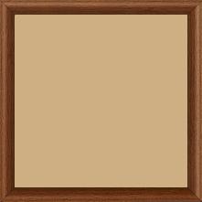 Cadre bois profil demi rond largeur 1.5cm couleur marron ton bois extérieur ébène - 15x20