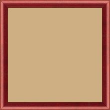 Cadre bois profil demi rond largeur 1.5cm couleur bordeaux satiné - 15x20