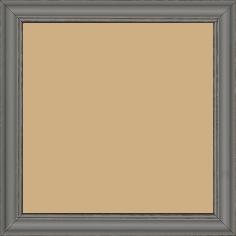 Cadre bois profil doucine inversée largeur 2.3cm gris satiné bord ressuyé - 15x20