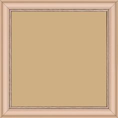 Cadre bois profil doucine inversée largeur 2.3cm rose tendre satiné bord ressuyé - 15x20