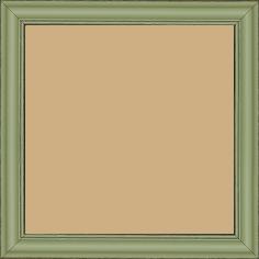 Cadre bois profil doucine inversée largeur 2.3cm vert tilleul satiné bord ressuyé - 15x20