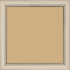 Cadre bois profil doucine inversée largeur 2.3cm crème satiné bord ressuyé - 15x20