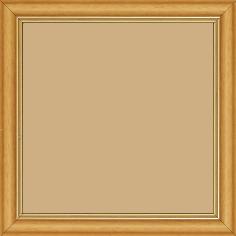 Cadre bois profil doucine inversée largeur 2.3cm jaune tournesol satiné double filet or - 15x20