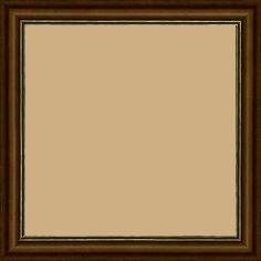 Cadre bois profil doucine inversée largeur 2.3cm marron satiné double filet or - 15x20