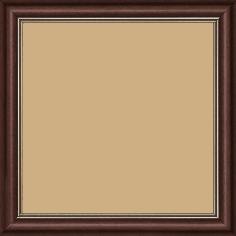 Cadre bois profil doucine inversée largeur 2.3cm bordeaux satiné double filet or - 15x20