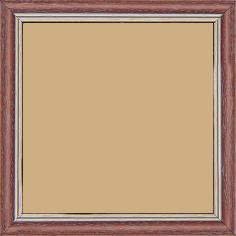 Cadre bois profil doucine inversée largeur 2.3cm framboise cérusé double filet or - 15x20