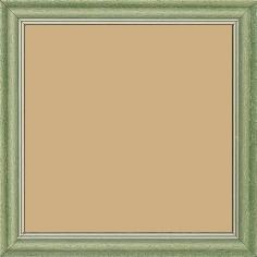 Cadre bois profil doucine inversée largeur 2.3cm vert cérusé double filet or - 15x20