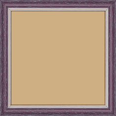 Cadre bois profil doucine inversée largeur 2.3cm cassis cérusé double filet or - 15x20
