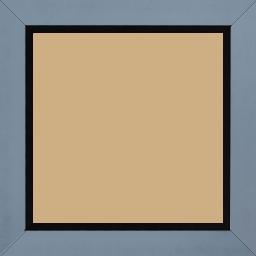 Cadre bois profil plat largeur 3.3cm couleur bleu pétrole satiné nez noir - 70x90