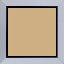 Cadre bois profil plat largeur 3.3cm couleur bleu clair satiné nez noir - 70x90